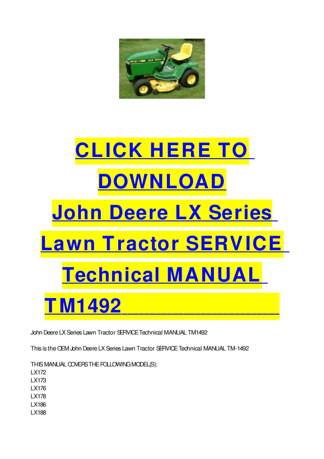 John Deere Manuals To Increase Your Vehicle Engine Performance